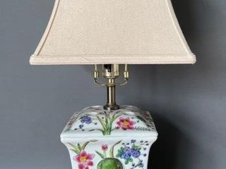 Oriental Hand Painted Elephant lamp
