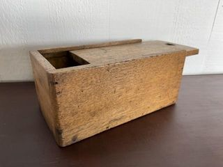 Early Wooden Slide lid Document Box