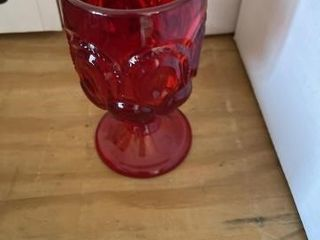 Vintage ruby red wine glasses and miscellaneous