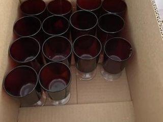 Vintage ruby red wine glasses