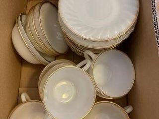 Vintage milk glass Fire King dish set
