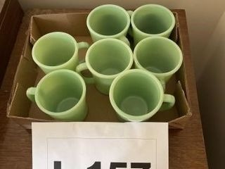 Vintage jadeite coffee cups  Fire King
