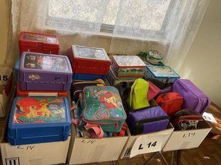 Vintage metal launch boxes  plastic lunchboxes