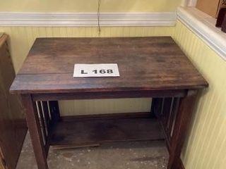 Vintage wooden library desk
