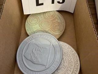 Frankoma Oklahoma state plates  Sequoia alphabet