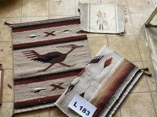 Indian type rugs and wall hanging