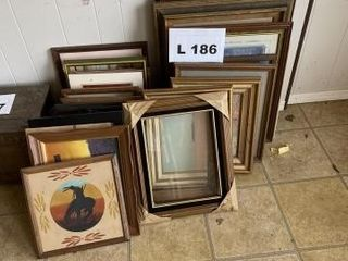 Vintage Indian paintings and picture frames