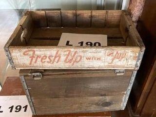 Vintage 7 Up six pack holder and vintage leone