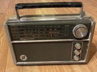 Vintage Magnavox transistor radio and antique