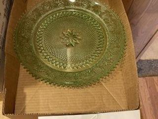 Tiara green serving platter
