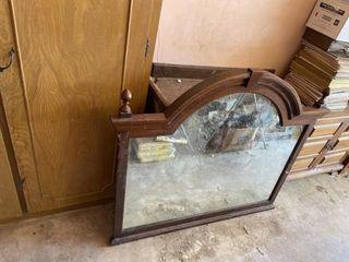 Vintage mirror and antique dresser