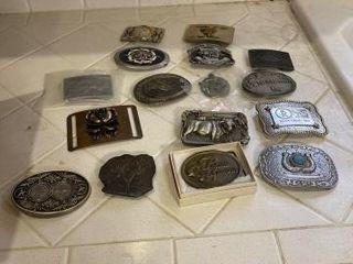 Tons of belt buckles