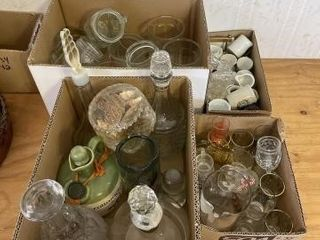 Miscellaneous glasses and shot glasses