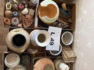 Miscellaneous Indian vases  bowls  decor