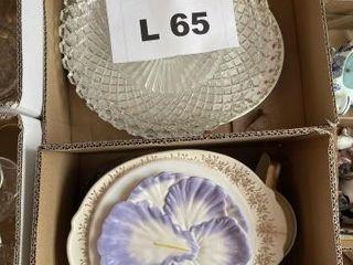 Miscellaneous platters  teapot  plates