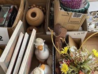 Ceramic ducks  flower decor  would decor  angel
