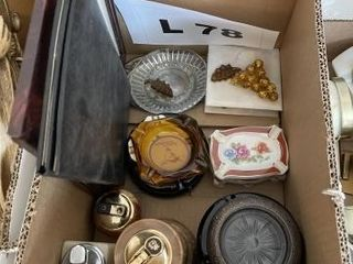 Vintage ashtrays and lighters