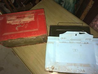 Two metal ammo boxes