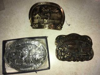Collectible belt buckles