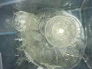 Clear depression glass