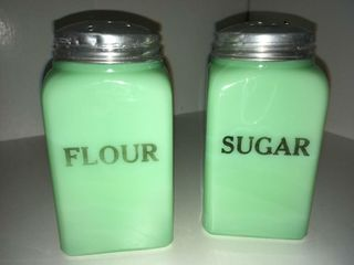 Depression flour and sugar shakers