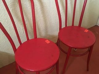 Metal bentwood style chairs