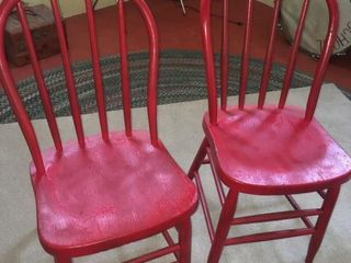 Pair bentwood chairs