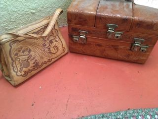 leather purse and chest