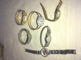 Six collectible wrist watches