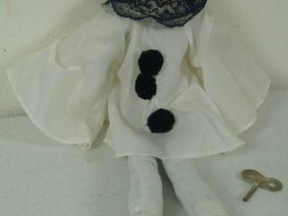Wind Up Porcelain Mime Doll w  Key  A Must Have