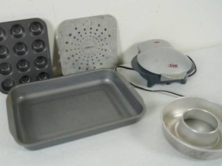 lot of Baking Pans and a Omelette Cooker