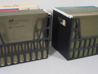 lot of Home Office Files w  2 Plastic Organizer Holders