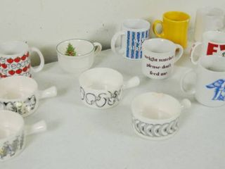 lot of Coffee Mugs and a Few Soup Bowls