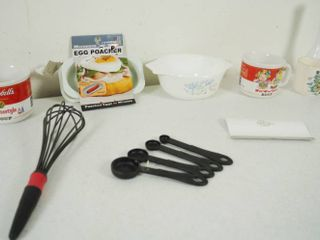 lot of Misc  Items   Soup Bowl  Egg Maker  Coffee Cup  Kitchen Utensils   More