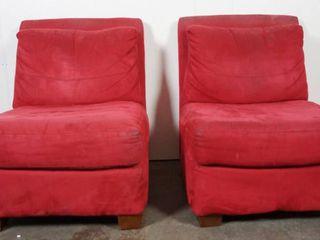 Pair of Velvet Chairs  Very Comfortable