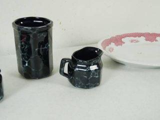Vintage Cream and Sugar Bowls    Plate   Shenango