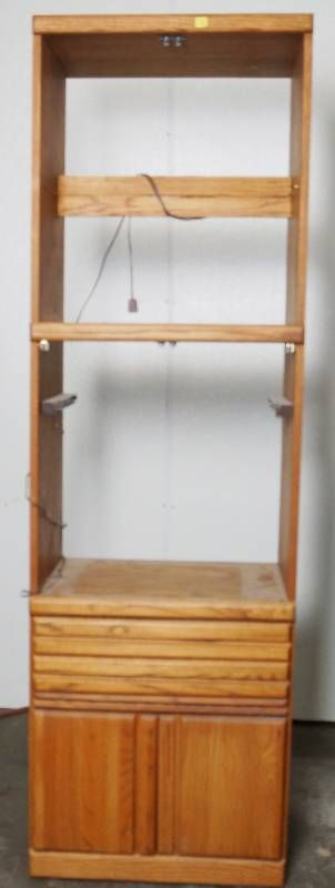 Oak Wood Cabinet   78  Tall  16  Deep  and 24  Wide