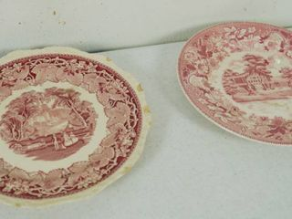 2 Vintage Plates   Plate on the left    Mason s  Vista England    Plate 2 on the Right  Festival  Japan