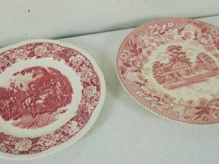 2 Vintage Plates   Plate on the left    Historical America    Plate 2 on the Right  Festival   Japan