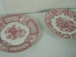 2 Vintage Plates   Plate on the left    Spode Archive Collection   Victorian Series  C 1837    Plate on the Right  Spode Archive Collection   Victorian Series  C  1882