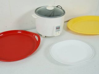 3 Platters and a Panasonic Cooking Keep Warming Rice   O Matic