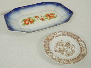 Vintage Platter and a Vintage Dish