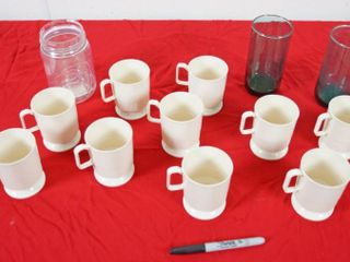 lot of Glasses and Coffee Cups