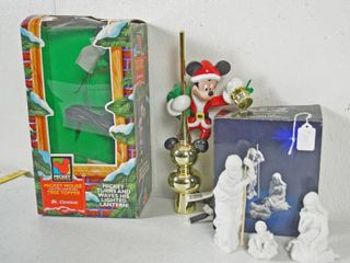 Christmas Mickey Tree Topper    Avon Nativity Collectibles