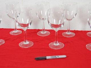 lot of 8 Wine Glasses