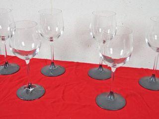 lot of 6 Wine Glasses