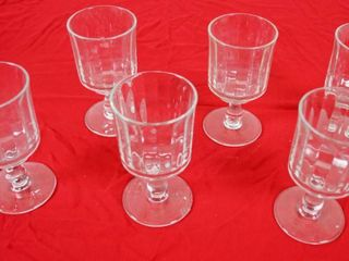 lot of 6 Footed Wine Glasses