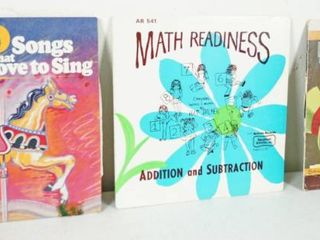 lot of 3 12  Record Albums  Over 80 Songs Children love To Sing  Math Readiness    Multiplication and Division