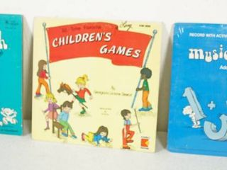 lot of 3 12  Vintage Record Albums  Musical Math Multiplication  Children s Games    Musical Math Addition Substraction