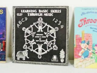 lot of 3 12  Vintage Record Albums  Favorite Songs Mary Poppins  learning Basic Skills    The Three little Pigs